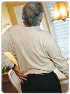 Back sprain can severely cramp activity